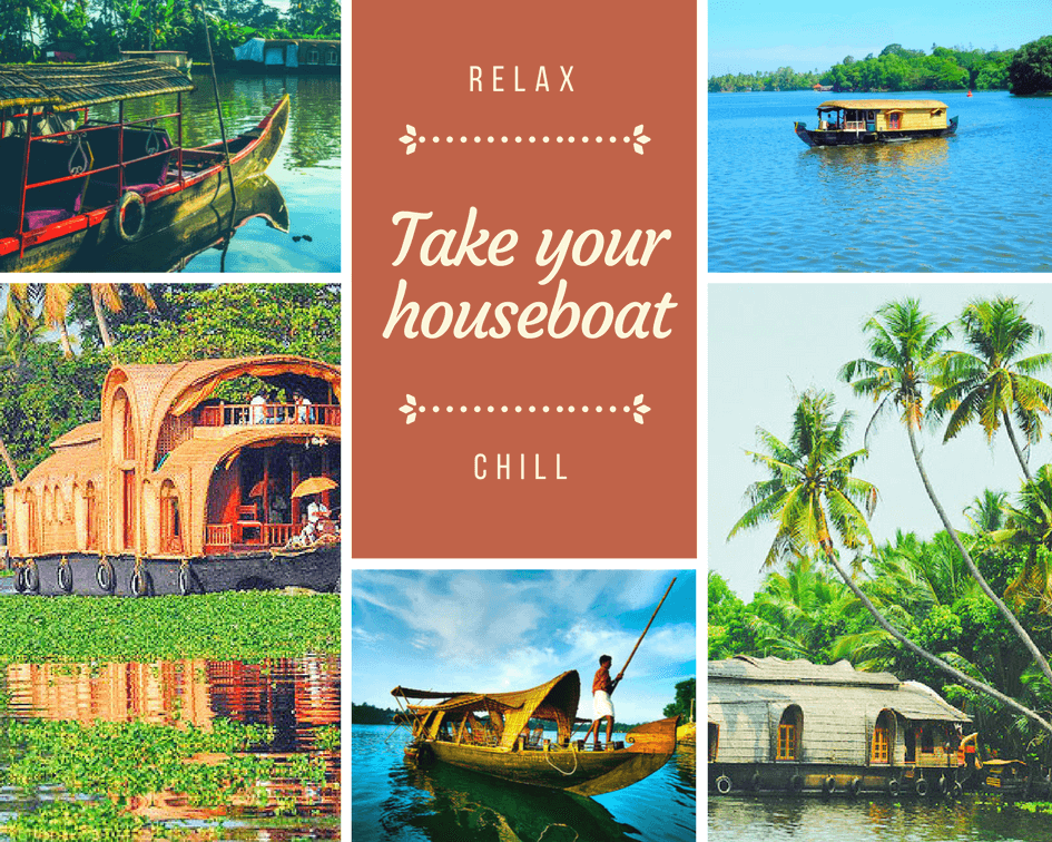 day trip houseboat kumarakom